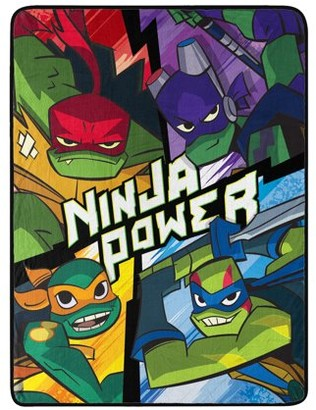 "Nickelodeon Rise of the Teenage Mutant Ninja Turtles 46"" x 60"" Micro Raschel Throw"