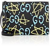 Gucci Men's GucciGhost-Print Crossbody Messenger Bag
