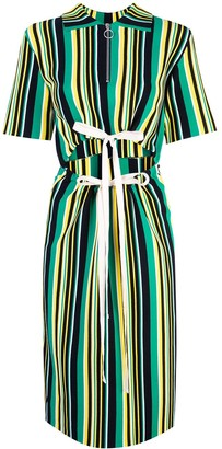 Proenza Schouler Striped Knit Cut-Out Dress