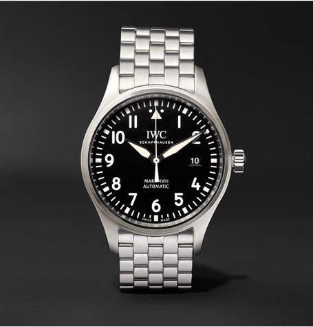 IWC SCHAFFHAUSEN Pilot's Mark Xviii 40mm Stainless Steel Watch