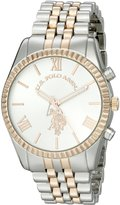 U.S. Polo Assn. Women's USC40056 Two-Tone Watch with Link Bracelet