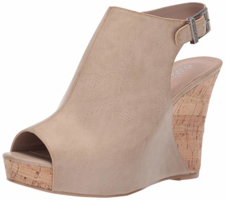 Charles by Charles David Women's Lobby Wedge Sandal Taupe 6 M US