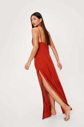 Nasty Gal Womens Low Back Cover Up Maxi Dress - Orange - 6
