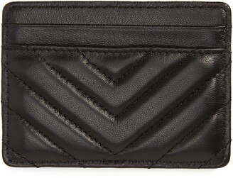 Kurt Geiger London Chevron Quilted Leather Card Case