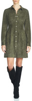 1 STATE 1.State Faux Suede Shirt Dress