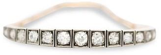 Stephanie Windsor Late Art Deco 18K Yellow Gold, Platinum & Diamond Half-Line Bracelet