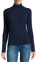 Neiman Marcus Cashmere Basic Turtleneck Sweater, Navy
