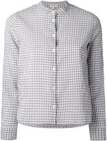 Bellerose collarless check shirt - women - Cotton/Spandex/Elastane - 1