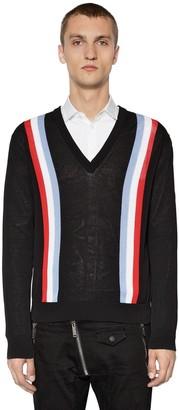 DSQUARED2 Striped Cotton Knit Sweater