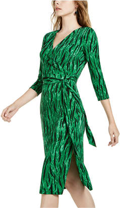 INC International Concepts Inc Side-Tie Faux-Wrap Dress