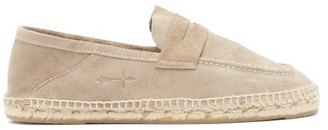 Manebi Hamptons Suede Espadrille Loafers - Light Brown