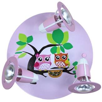 Elobra 128275 Ceiling Lamp with 3 Lights Pink Oil Family Design