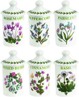 Portmeirion Botanic Garden Set Of 6 Spice Jars