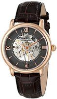Stuhrling Original Men's Mechanical Watch with Grey Dial Analogue Display and Brown Leather Strap 458G2.3345K54
