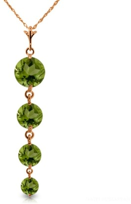 Overstock 14K Rose Gold Peridot Necklace Gemstone Genuine