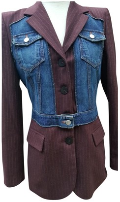 Jean Paul Gaultier Burgundy Wool Jackets