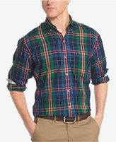 Izod Men's Long Sleeve Plaid Shirt, Classic Fit