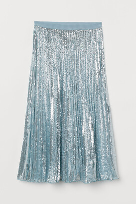 H&M Pleated sequined skirt