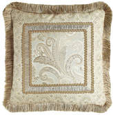 """Dian Austin Couture Home Cynthia Pillow with Fringe, 20""""Sq."""