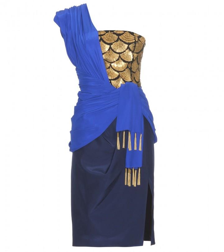 Altuzarra EMBELLISHED DRESS WITH DRAPING DETAIL