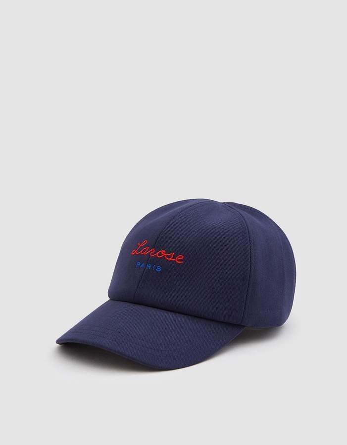 Larose Paris Logo Baseball Cap in Navy