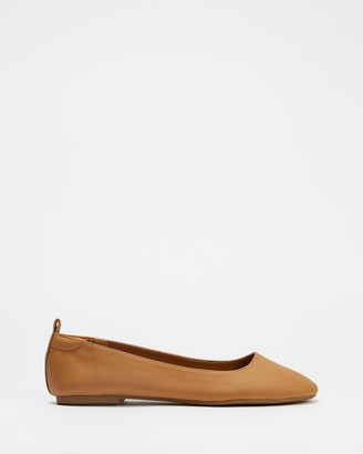 Therapy Women's Brown Ballet Flats - Angelina - Size 6 at The Iconic