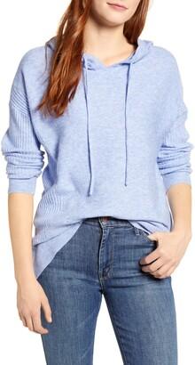 Wit & Wisdom Mixed Rib Stitch Hooded Sweater