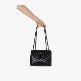 Saint Laurent black Loulou small leather shoulder bag