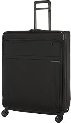 Briggs & Riley Black Extra Large Expandable Spinner Suitcase Trolley