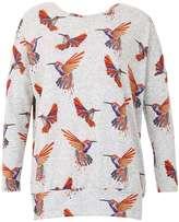 Izabel London **Izabel London Multi Orange Long Sleeve Top