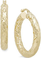 Macy's Diamond-Cut Hoop Earrings in Italian 14k Gold