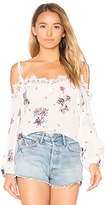 Karina Grimaldi Fleur Off Shoulder Top in White. - size L (also in M,S,XS)