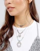 Glamorous Layering Chokers & Pendant Necklace
