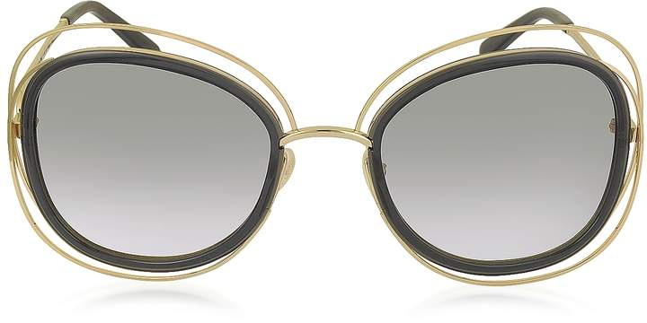 Chloé CARLINA CE 123S Square Oversized Acetate & Metal Women's Sunglasses