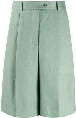 Mrz Off-Centre Button Shorts