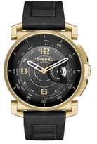 Diesel Goldtone and Leather Hybrid Smartwatch