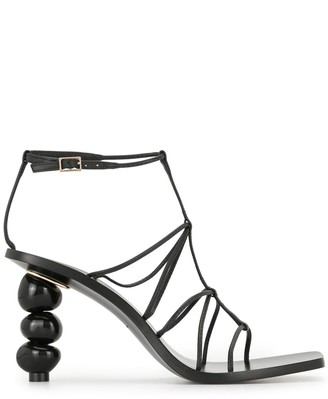 Cult Gaia Stacked Pebble Heel Sandals