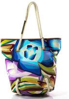 Missoni Multicolored Leather Canvas Woven Strap Small Handbag New