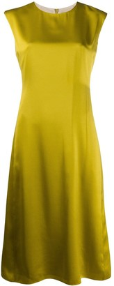 Theory Flared Satin Dress