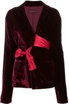 Romeo Gigli Pre Owned 1990s tie waist velvet jacket