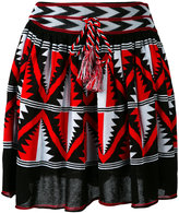 Laneus intarsia A-line skirt - women - Cotton/Viscose - 40