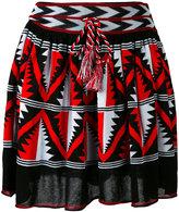 Laneus intarsia A-line skirt