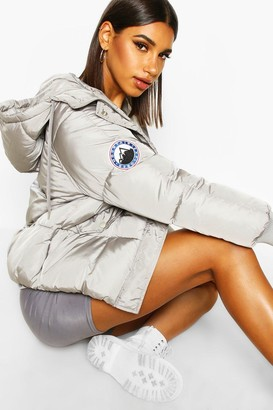 boohoo Hooded Quilted Puffer
