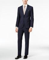 HUGO BOSS HUGO Men's Slim-Fit Black Tonal Grid-Pattern Suit