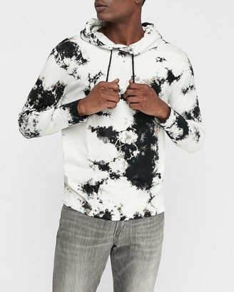 Express Tie-Dye Hooded Long Sleeve T-Shirt