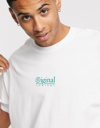 New Look original print t-shirt in white