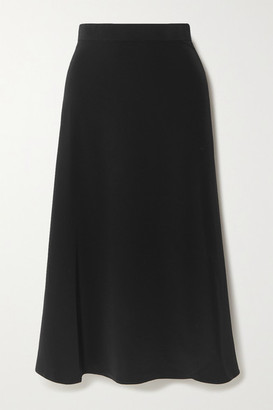 Co Crepe Midi Skirt - Black