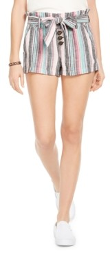Rewash Juniors' Striped Belted Shorts