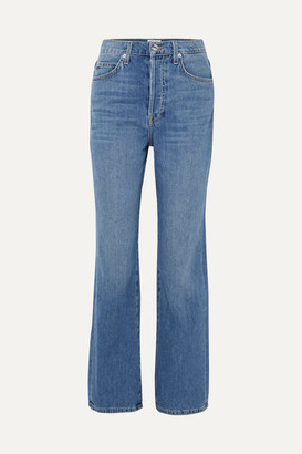 Eve Denim Juliette High-rise Straight-leg Jeans - Light denim