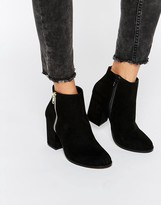 Faith Belinda Zip Heeled Ankle Boots